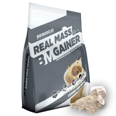 Big Muscles Nutrition Real Mass Gainer 10 Servings cookies & Cream
