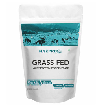 NAKPRO Nutrition Grass Fed Raw 80% Whey Protein Concentrate - Unflavoured -1Kg (33 Servings)-front