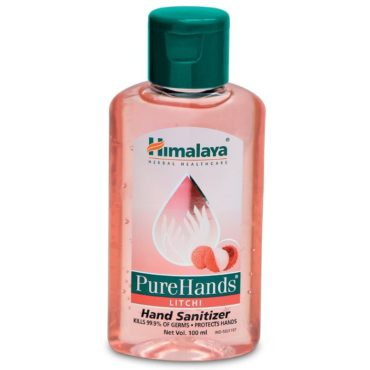 Himalaya Herbals Pure Hands Hand Sanitizer - 100 ml (Litchi)