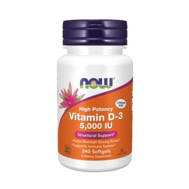 Now Vitamin D-3 5000 Iu 240 Softgels