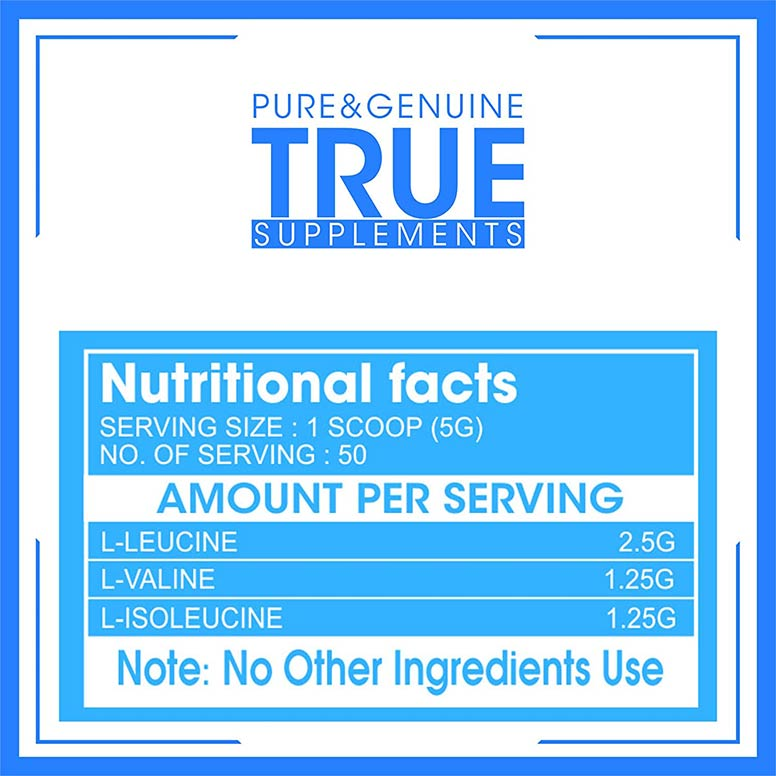 True-Supplements-Pure-BCAA-Pre-&-Post-Workout-Supplement-for-Recovery-250g,-50-Servings-N