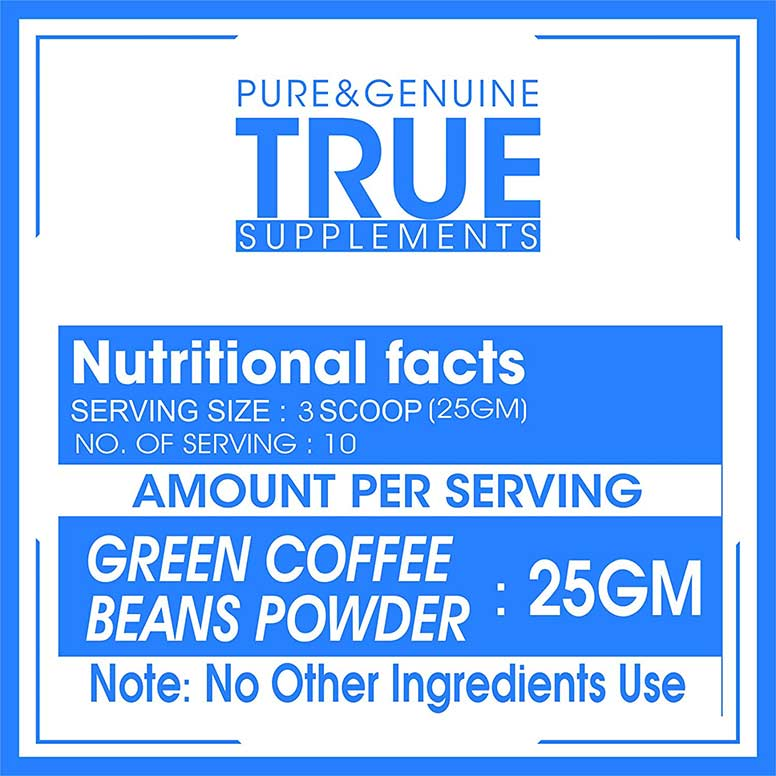 True-Supplements-Pure-Green-Coffee-Beans-Extract-for-Organic-Weight-Loss-250-Gm