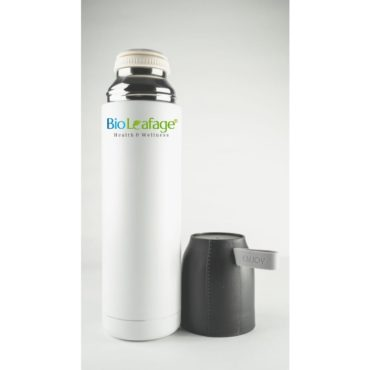 Bio Leafage Stainless Steel Flask Water Bottle 500ml White