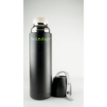 Bio Leafage Stainless Steel Flask Water Bottle for use Home Boys Girls 500ml Black