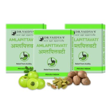 Dr. Vaidya's Amlapittavati Pills Ayurvedic Treatment for Acidity Pack of 3-front