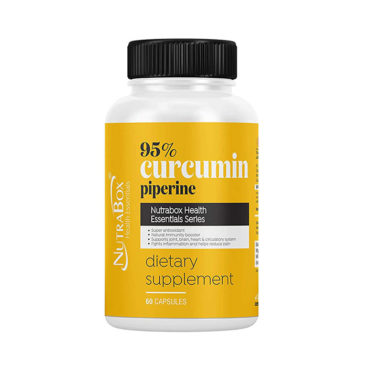 Nutrabox Immunity Boosting Curcumin & Piperine Extract 60 Capsules-Front