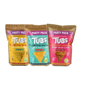 Tubs Natural Plant Protein Chips Gluten Free Combo 120gm each1