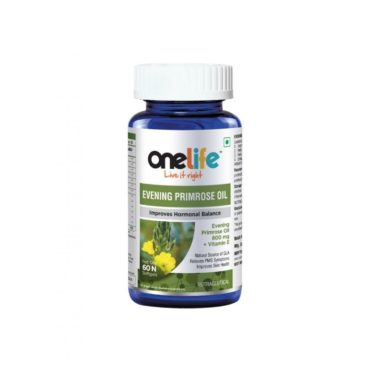 Onelife Evening Primrose Oil Improves Hormonal Balance 60 Softgels
