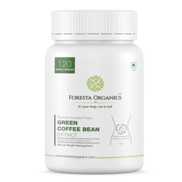 Foresta Organics Green Coffee Bean Extract with Finest 50% Chlorogenic Acid (CGA) - 120 Capsules front