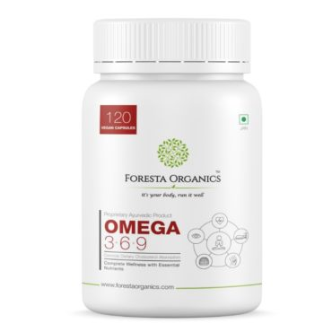 Foresta Organics Omega 369 Vegan with Flaxseed and Safflower Extract 120 Caps front