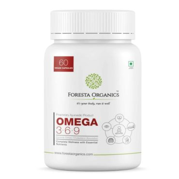 Foresta Organics Omega 369 Vegan with Flaxseed and Safflower Extract 60 Caps front