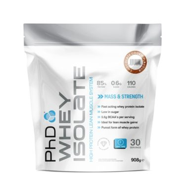 PhD Nutrition PhD Whey Isolate 908gms front (1)