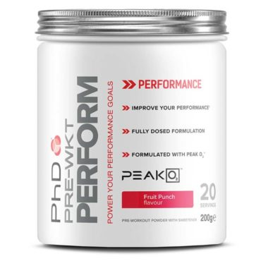 PhD Nutrition Pre Workout Perform Fruit Punch 200g front