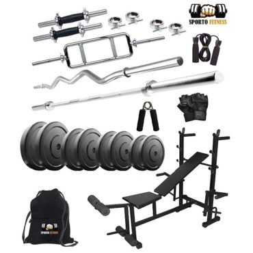 Sporto Fitness Rubber 70 Kg Home Gym Set