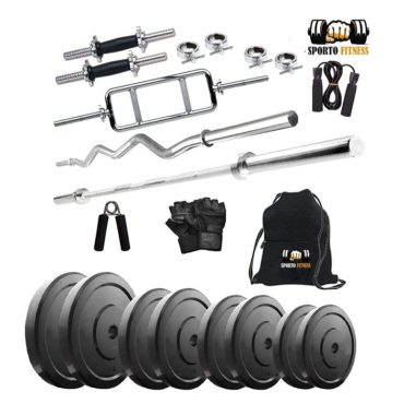 Sporto Fitness Combo 20kg Home Gym and Fitness Kit with Egg Rod
