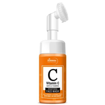 StBotanica Vitamin C Brightening Foaming Face Wash with Built in Brush 120ml