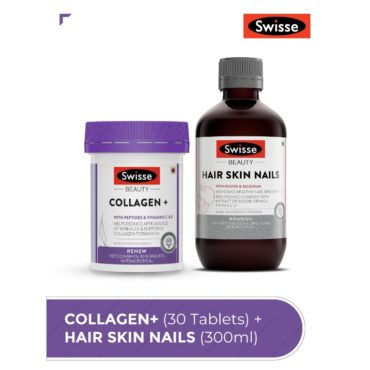 Beauty Inside Out Combo-Swisse Beauty Collagen+ 30 Tablets & Hair Skin Nails 300Ml front