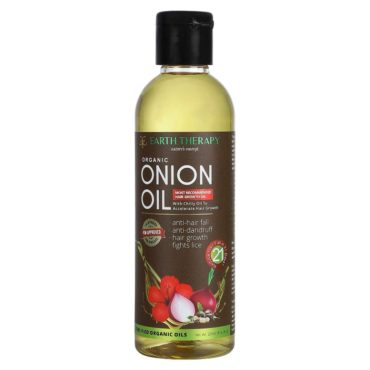 EARTH THERAPY® Organic Onion Oil for Total Haircare for Men and Women - 200 ml front