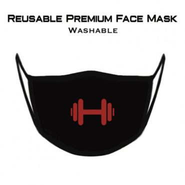 GymX Gym Addict Premium Face Mask (Reusable) front 1