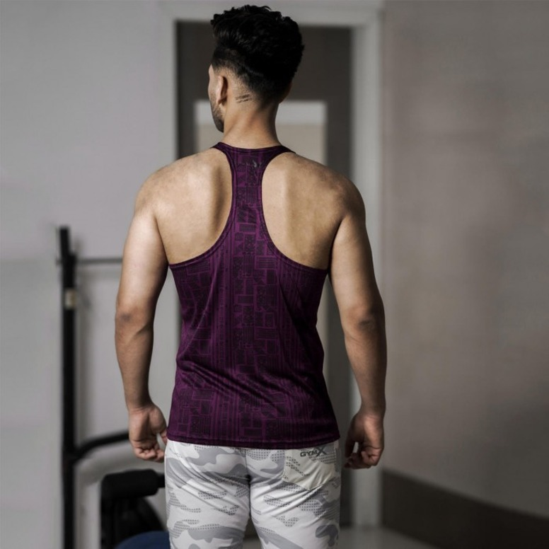GymX Imperial Purple Stringer- Cool Tech Series back