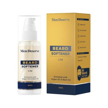 Men Deserve Beard Softener Lite Enriched with Argan Oil and Basil Oil (60ml)1