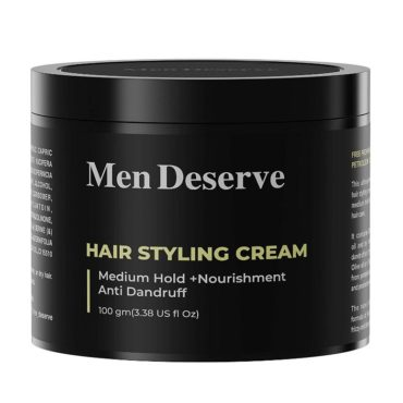 Men Deserve Hair Styling Cream Medium Hold 100gm