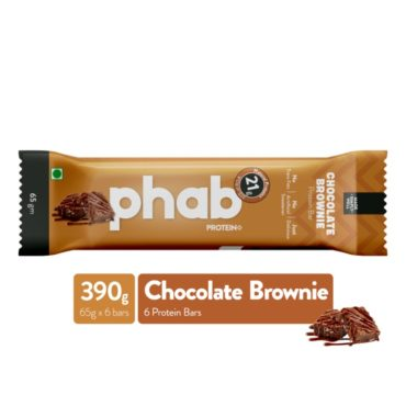 Phab Protein Bar –Chocolate Brownie Pack of 6 Front