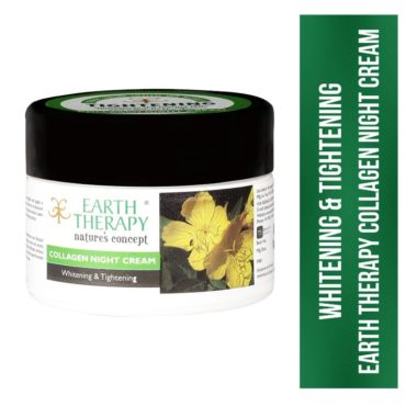 EARTH THERAPY® Whitening & Tightening Collagen Night Cream for Naturally Beautiful Skin for Women n Men - 50gm front