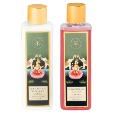 EARTH THERAPY Rose Shower Wash & Body Lotion Multicolour (Pack of 2)