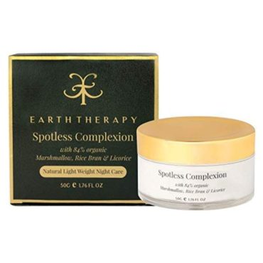 EARTH THERAPY SPOTLESS COMPLEXION CREAM infused with marshmello & licorice LUXURY COLLECTIONLIMITED EDITION 50 gm front