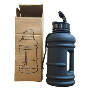GHC Gallon Water Bottle Smooth Touch 1 litre Black