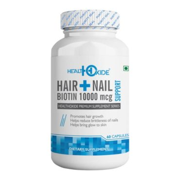 HealthOxide Biotin Supports Healthy Hair Skin and Nail 60 Capsules