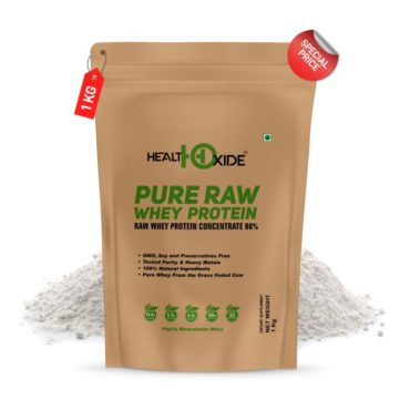 HealthOxide Pure Raw Whey Protein 80% 1kg1