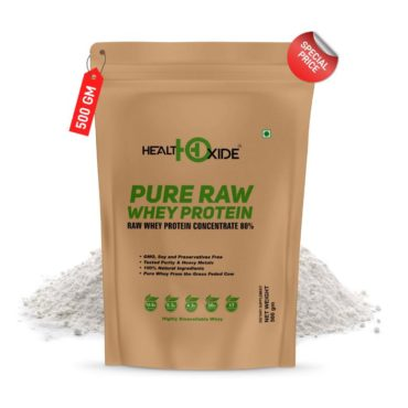 HealthOxide Pure Raw Whey Protein 80% 500gm1