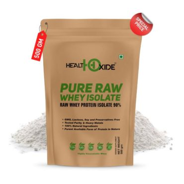 HealthOxide Pure Raw Whey Protein Isolate 500gm Unflavored