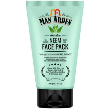 Man Arden Anti-Acne Neem Face Pack 100g front