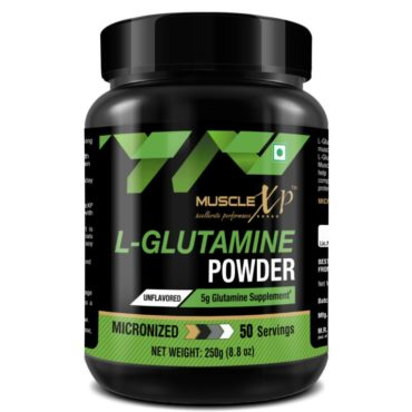 MuscleXP Micronized L-Glutamine Powder 250Gm Unflavored