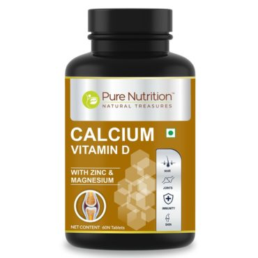 Pure Nutrition Calcium for Men and Women with Vitamin D 60 Tablets Front