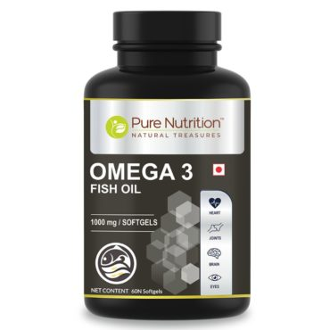 Pure Nutrition Omega 3 Fish Oil 60 Softgel Capsules Front