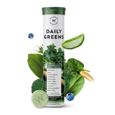 Wellbeing Nutrition Daily Greens 15 Effervescent Tablets