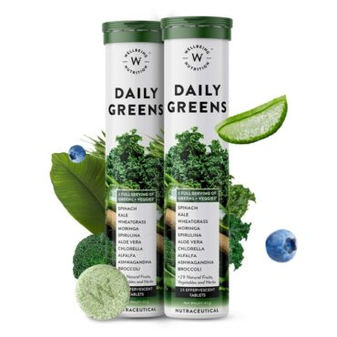 Wellbeing Nutrition Daily Greens 15 Effervescent Tablets Pack of 2