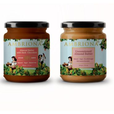 Ambriona Almond Butter With Dark Chocolate 400gm Combo