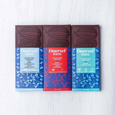 Ambriona Daarzel Keto Dark Chocolate with Almonds Hazelnut Pack of 3 150gm