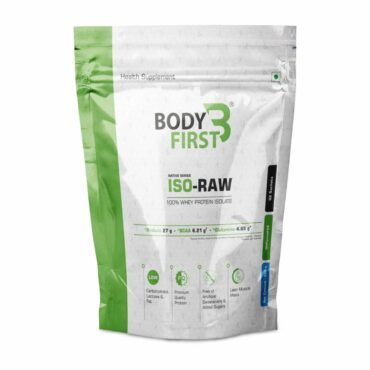 BodyFirst ISO-RAW 100% Whey Protein Isolate 1.86 lbs, 960gm