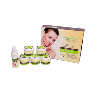 EARTH THERAPY 6 in 1 Age Control Kit for Skin Whitening And Tightening 375gm