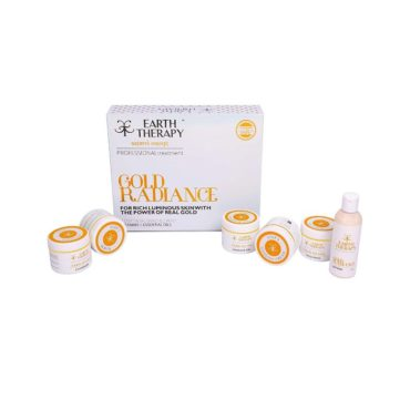 EARTH THERAPY Gold radiance 6 in 1 kit for rich luminous skin 375g