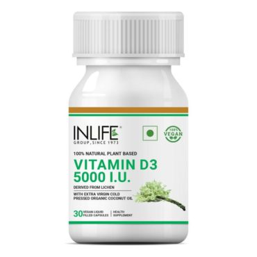 INLIFE Plant Based Vitamin D3 from Lichen 30 Vegan Capsules