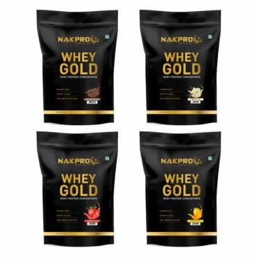 Nakpro Gold 100% Whey Protein Concentrate 500Kg (Combo)