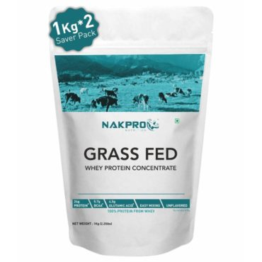 Nakpro Grass Fed Raw 80% Whey Protein Concentrate2kg Unflavoured