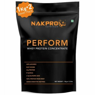 Nakpro Perform Raw Whey Protein Concentrate 2kg Unflavoured